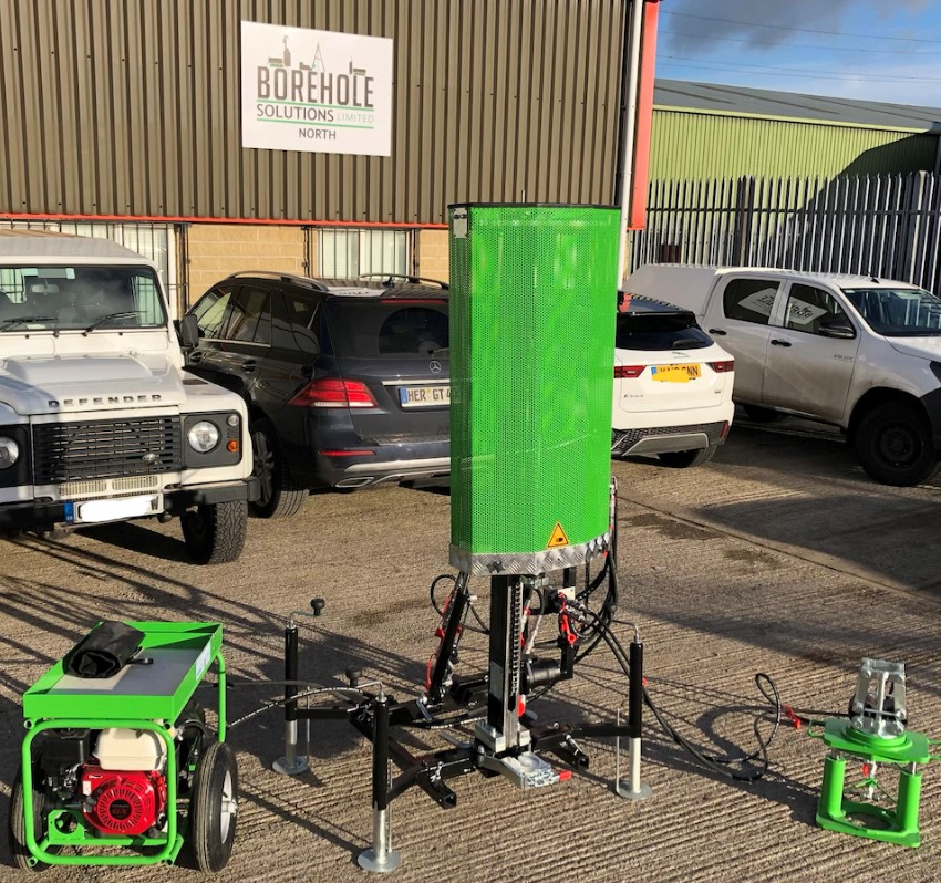 Image of Borehole Solution North's modular dynamic probing rig.