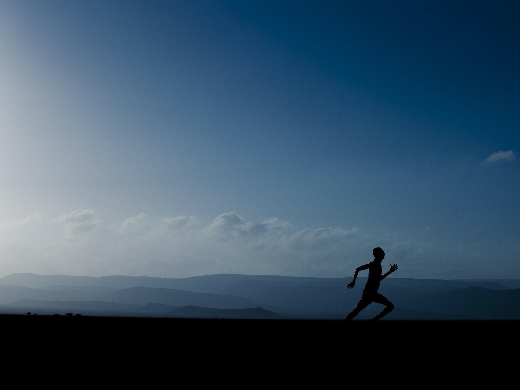 A runner to represent John training for the London marathon.