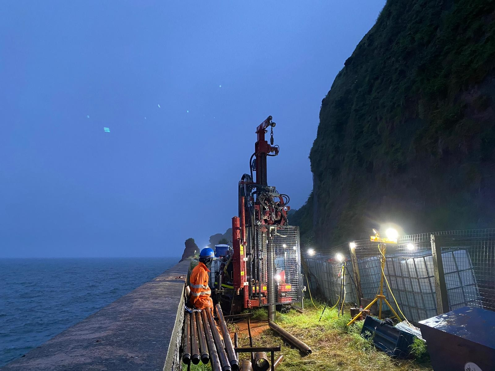 An image of the limited access job near Teignmouth, in Devon.